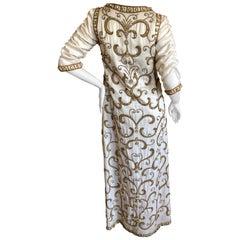Cardinali Arabesque Crystal Embellished Evening Coat, 1970