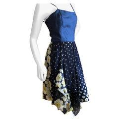 Cardinali Multi Pattern Silk Day Dress