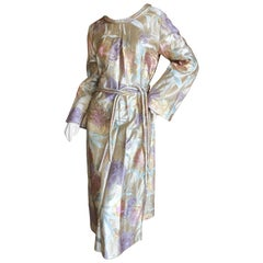 Cardinali Golden Brocade Opera Coat / Dress with Belt