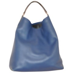 Proenza Schouler Blue Pebbled Leather Hobo Bag