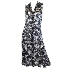 Chanel 2005 P Silk Print Dress