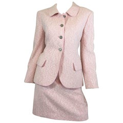 Chanel Pink Boucle Skirt Suit, 1998
