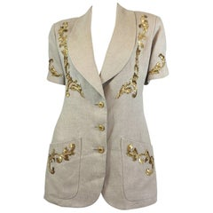 Chanel Vintage Gold Baroque Embroidered Jacket