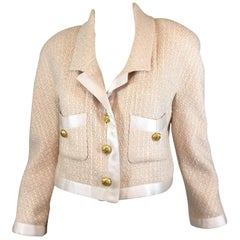 Chanel Boutique Satin Trim Vintage Jacket
