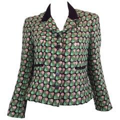 Chanel 2002 P MultiColor Tweed Jacket