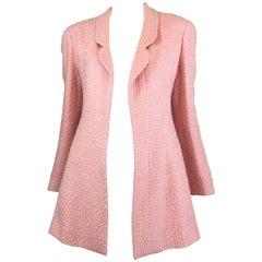 Chanel Pink Vintage Open Long Jacket