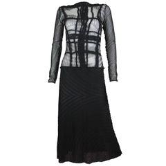 Jean Paul Gaultier Maille Greta Garbo Face Print Dress Size M