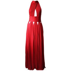 Givenchy Pleated Cut-Out Cross Front Viscose Blend Dress