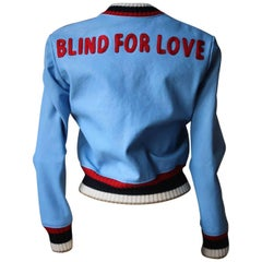 Gucci Blind For Love Leather Bomber Jacket