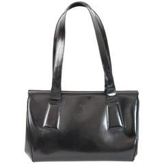 Prada Doctor Bag Black Patent Leather Vintage