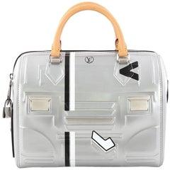 Louis Vuitton Speedy Handbag Printed Embossed Leather 25