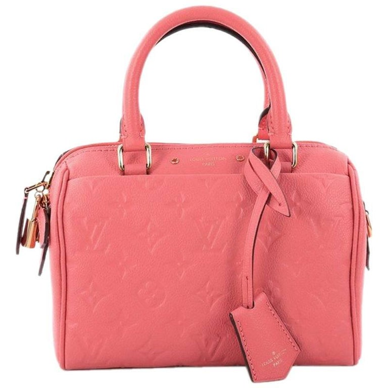 Louis Vuitton Speedy Bandouliere NM Handbag Monogram Empreinte Leather 20