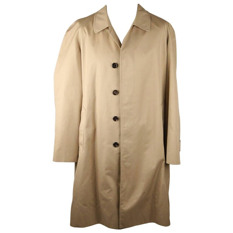 BURBERRY Tan Cotton Blend Classic Trench Coat Size 52 R