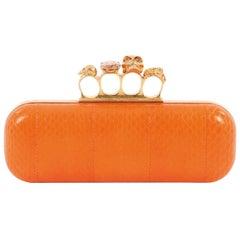Alexander McQueen Knuckle Box Clutch Leather Long