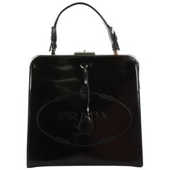 Prada Frame Handle Bag Spazzolato Leather Small