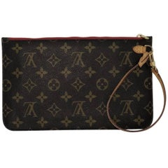 Louis Vuitton Monogram Neverfull MM/GM Pouch ONLY with Cherry Interior