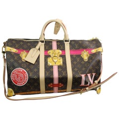 Louis Vuitton Keepall 45 monogram canvas and leather Summer Trunks