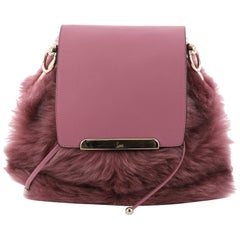 Christian Louboutin Lucky L Convertible Backpack Fur with Leather
