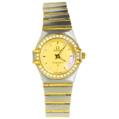 Omega Stainless Steel, 18 Karat Gold and Diamond Constellation Watch