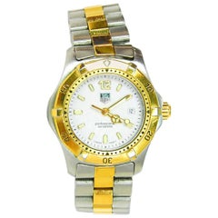 Tag-Heuer Stainless Steel and Goldtone Professional Watch