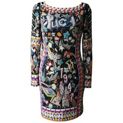 Emilio Pucci Bead Embellished Mini Dress