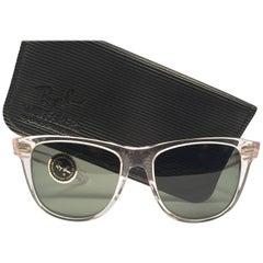 Rare Ray Ban The Wayfarer II Ice B&L G15 Grey Lenses USA 80's Sunglasses