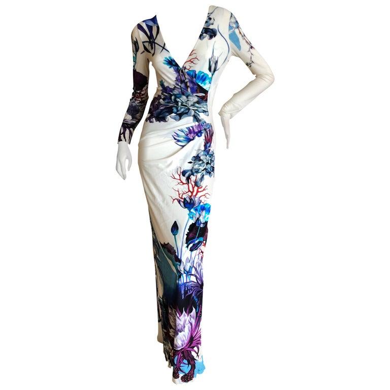 Roberto Cavalli Vintage Garden of Earthly Delights Evening Dress