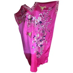 Josie Natori Couture Heavily Emboidered Silk Caftan  New with Tags $3200