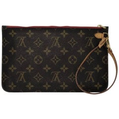Louis Vuitton Monogram Neverfull MM/GM Pouch ONLY with Cherry Interior Wristlet