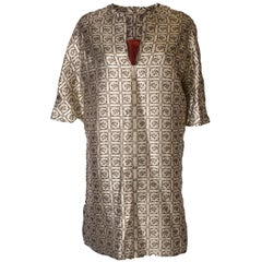 A Vintage 1970s Gold brocade Tunic dress