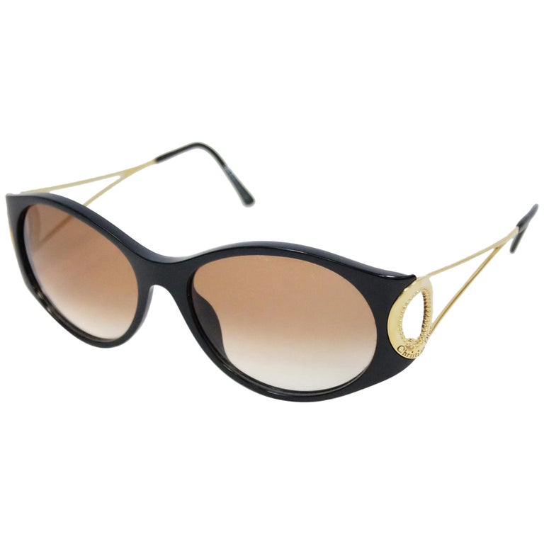 Christian Dior Black and Gold 2661 Sunglasses, 1980s