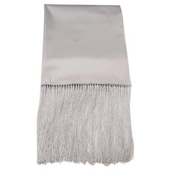 Chopard Statole Platinum Silk Shawl with Fringe