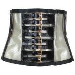 Dolce & Gabbana PVC & Leather Waist Cincher, S/S 2007, Size 24-27