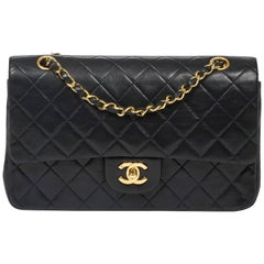 CHANEL Classic Double Flap Navy Leather 26cm