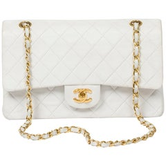 Chanel Classic Double Flap White Leather 26cm
