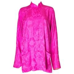 A vintage vibrant Pink Silk jacket by Shanghai Tang