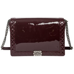 Chanel Boy Reverso Mahogany Leather Bag