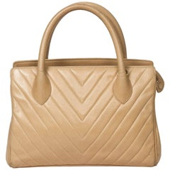 Chanel Handbag Beige Leather