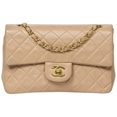 Chanel Classic Double Flap Tan Leather