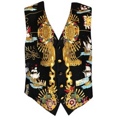 "Hermes Men's Silk Vest ""Voile de Lumiere"" by J. Metz Pattern"