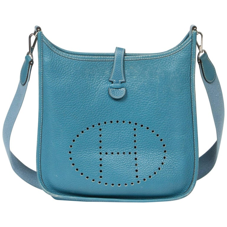 Hermes Evelyne 1 Blue Jean Leather