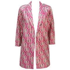 C.1980 Mod Pink & Gold Lamé Boyfriend Jacket