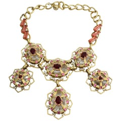 Lanvin Impressive Crystal Couture Necklace