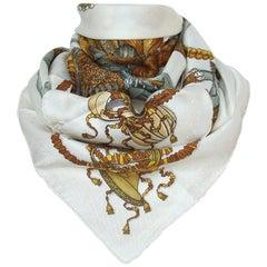 Hermès Silk Scarf Carré Les Fets du Rois Soleil Michel Duchene Jacquard 90 cm