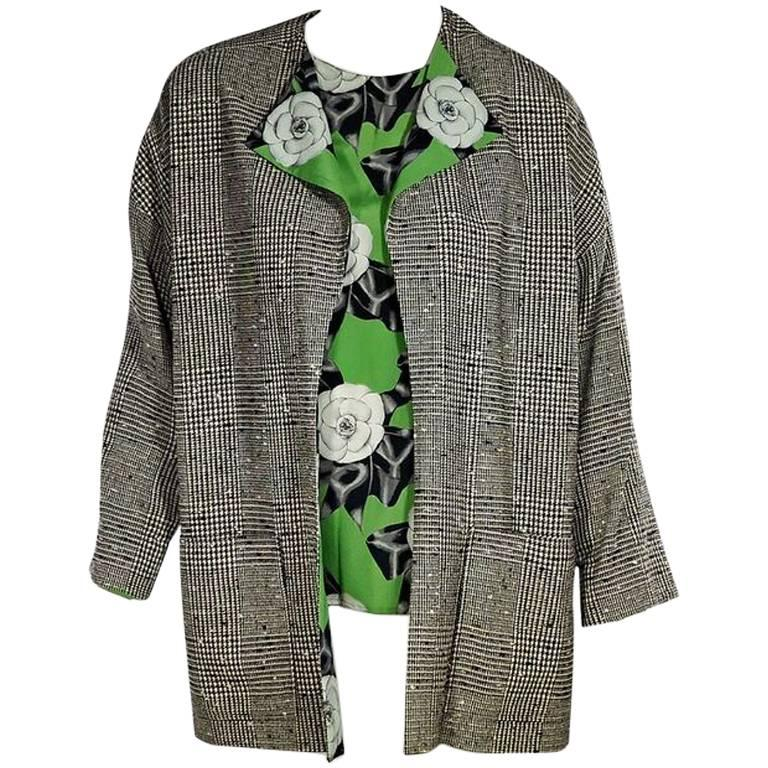 Multicolor Chanel Jacket & Shirt Set