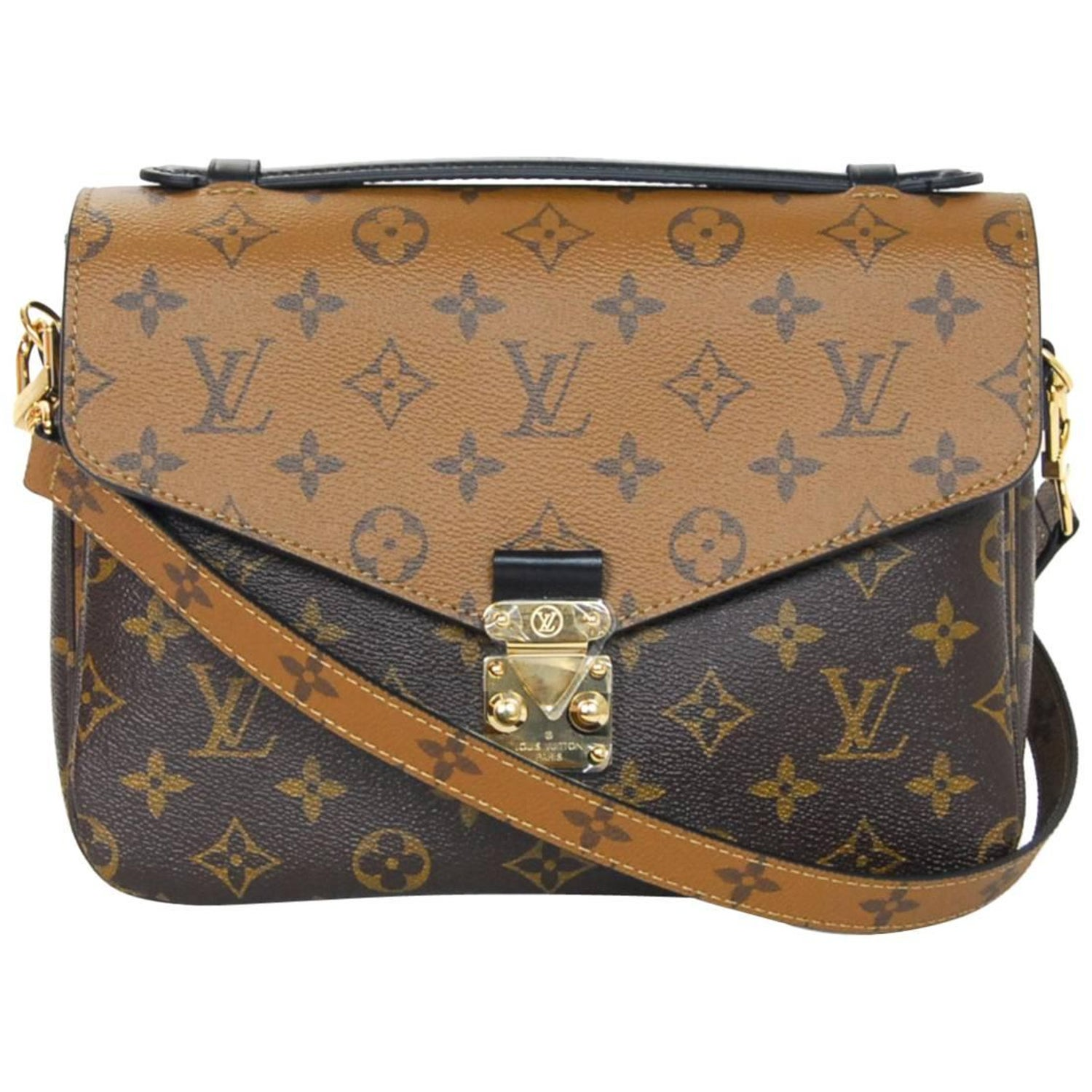 8ad7164b0356 Louis Vuitton SOLD OUT Reverse Monogram Metis Pochette Crossbody Bag  BX Receipt For Sale at 1stdibs