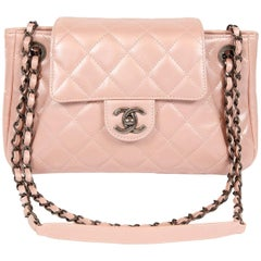 Chanel Pearl Pink Leather Cross Body Flap Bag