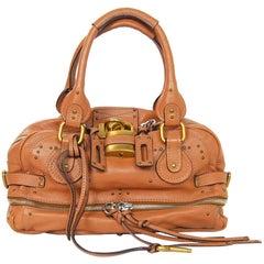 Chloe Tan Leather East/West Paddington Zippy Tote Bag