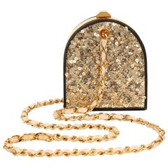 Chanel Gold Sequin Runway Vintage Evening Bag