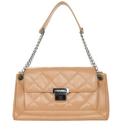 Chanel Nude Caviar Leather Accordion Bag w. Dust Bag
